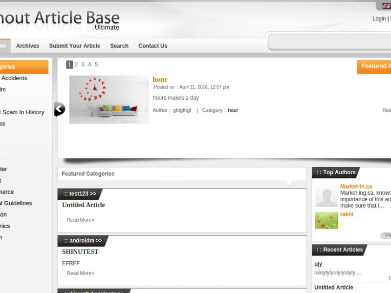 Inout Article Base : Content Management System from Inout Scripts Thumbnail
