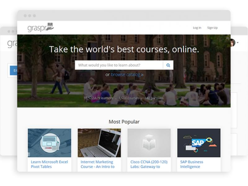Coursera Clone Script in PHP - Graspr - Online Education Software Thumbnail