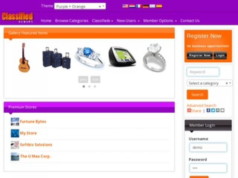 Softbiz Classifieds software in PHP Thumbnail