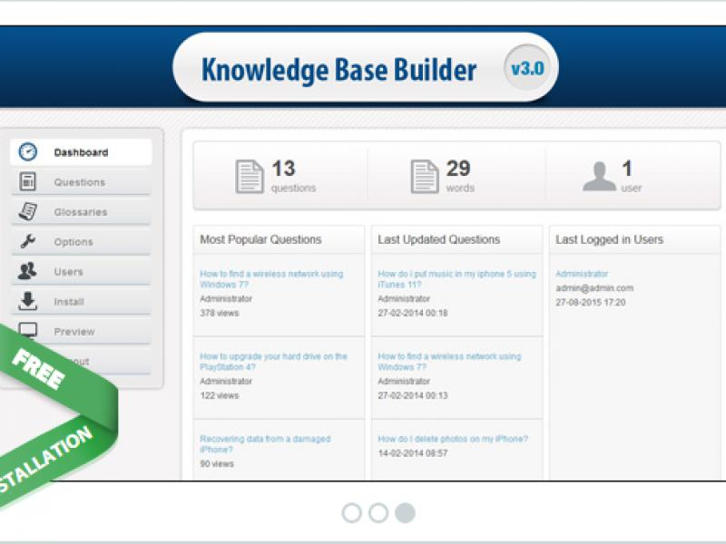Knowledge Base Builder Script in PHP