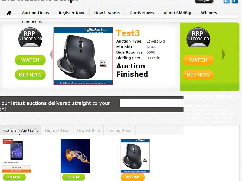 PHP Combined Bid Auction Software