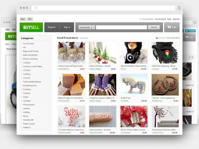 Etsy clone script - BuySell - Marketplace software