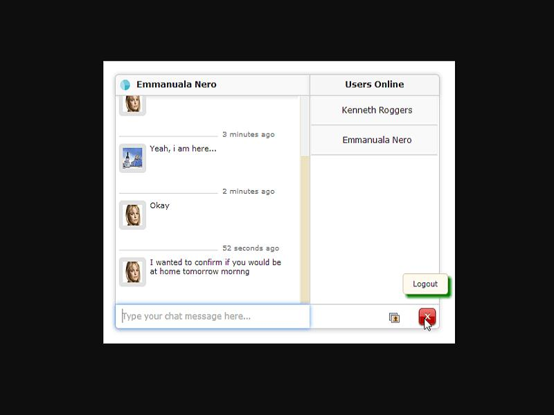 Gmail / Facebook Style PHP Chat Application Thumbnail