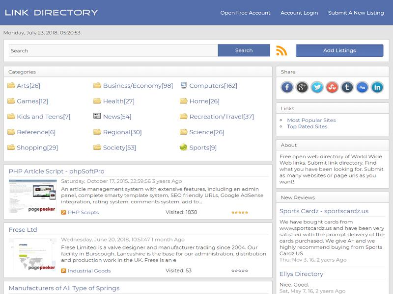 PHP Link Directory Script