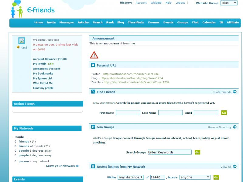 AlstraSoft E-Friends - Social Networking Script